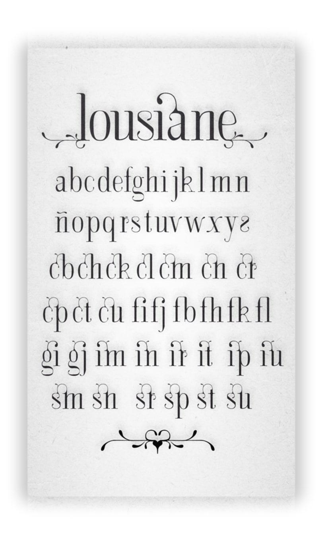 LOUSIANE (free font) 3