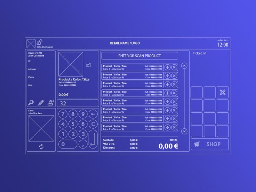 Interfaz de usuario para terminal de punto de venta (TPV) 4