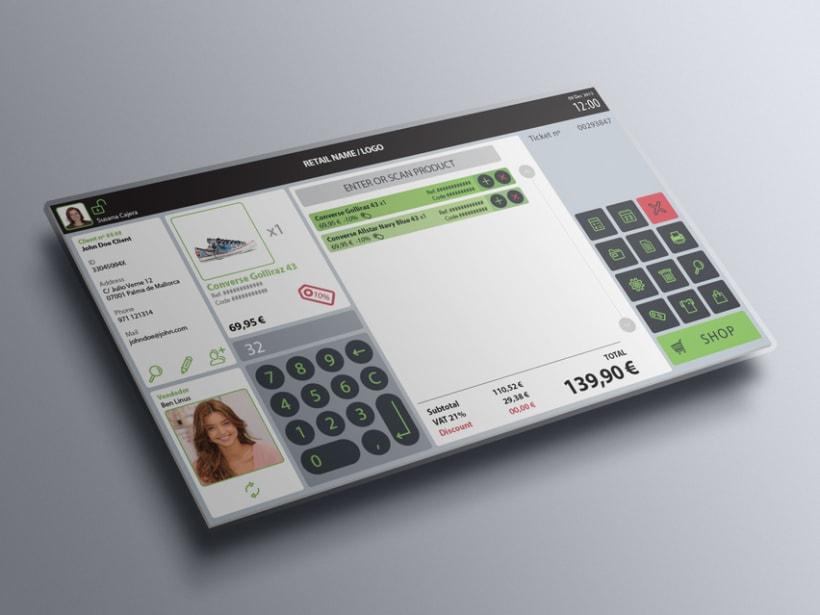 Interfaz de usuario para terminal de punto de venta (TPV) 7