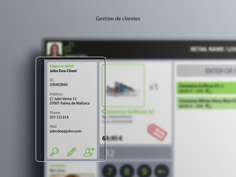 Interfaz de usuario para terminal de punto de venta (TPV) 12