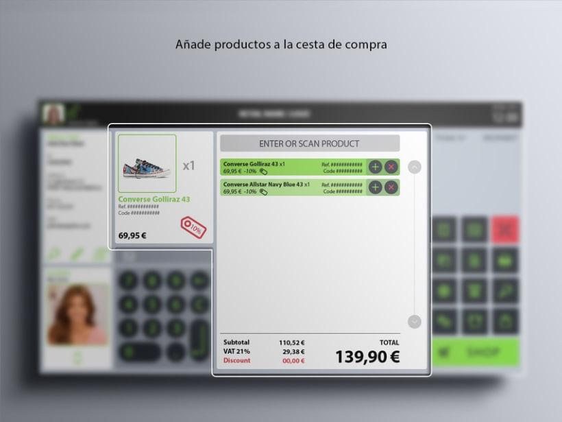 Interfaz de usuario para terminal de punto de venta (TPV) 13