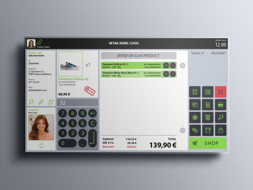 Interfaz de usuario para terminal de punto de venta (TPV) 6