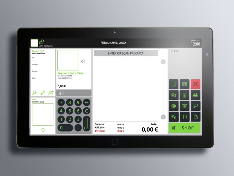 Interfaz de usuario para terminal de punto de venta (TPV) 17