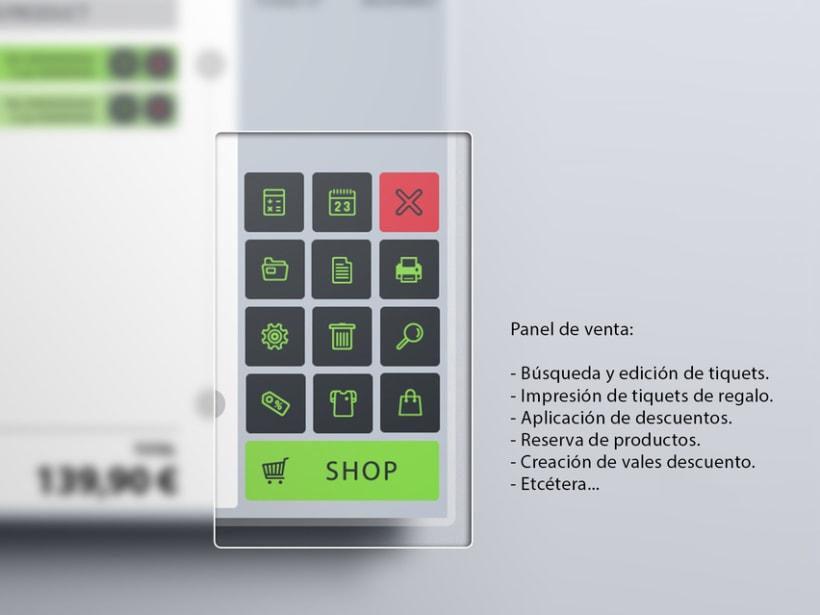 Interfaz de usuario para terminal de punto de venta (TPV) 14