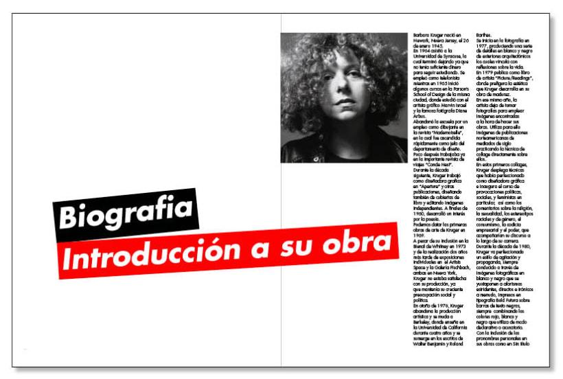 Fanzine sobre Barbara Kruger 0