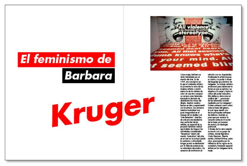 Fanzine sobre Barbara Kruger 2