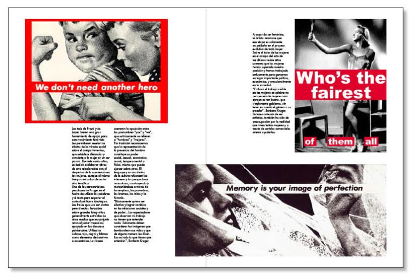 Fanzine sobre Barbara Kruger 3