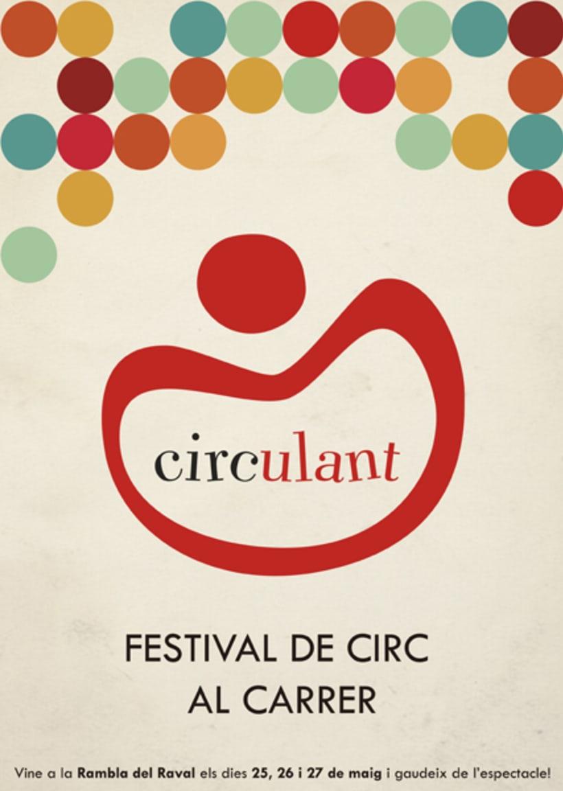 Cartel y logo Festival Circulant 0