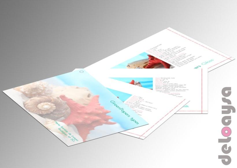 Muestrario Tipos de Papel, Gramaje, Color, Impresión... 0