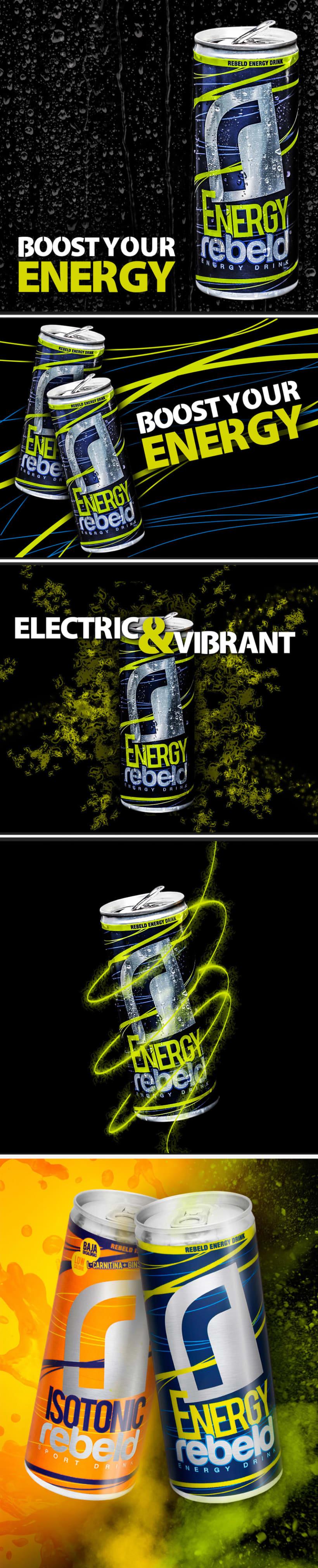 REBELD ENERGY DRINK. Diseño packaging 1