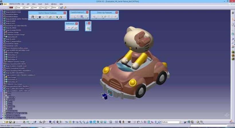 """Diseño """"Proyecto HK"""" Catia v5 - módulo Generative Shape Design (Superficies)  13"""