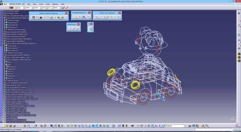 """Diseño """"Proyecto HK"""" Catia v5 - módulo Generative Shape Design (Superficies)  2"""