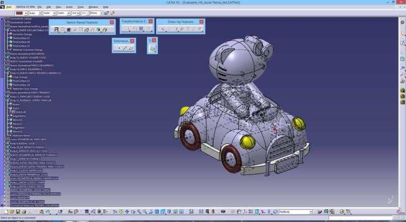 """Diseño """"Proyecto HK"""" Catia v5 - módulo Generative Shape Design (Superficies)  11"""