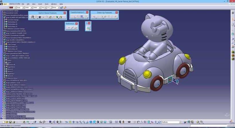"""Diseño """"Proyecto HK"""" Catia v5 - módulo Generative Shape Design (Superficies)  12"""