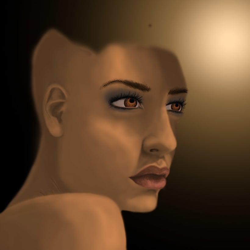 Personal work - Tattooed black woman 4