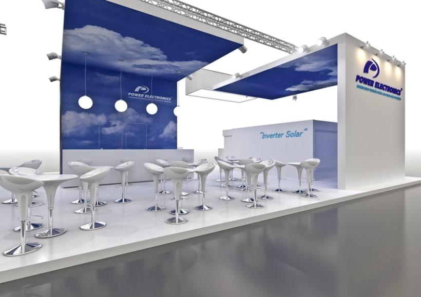 Stand Power Electronics. Feria Inter Solar 2013 (Alemania) 3