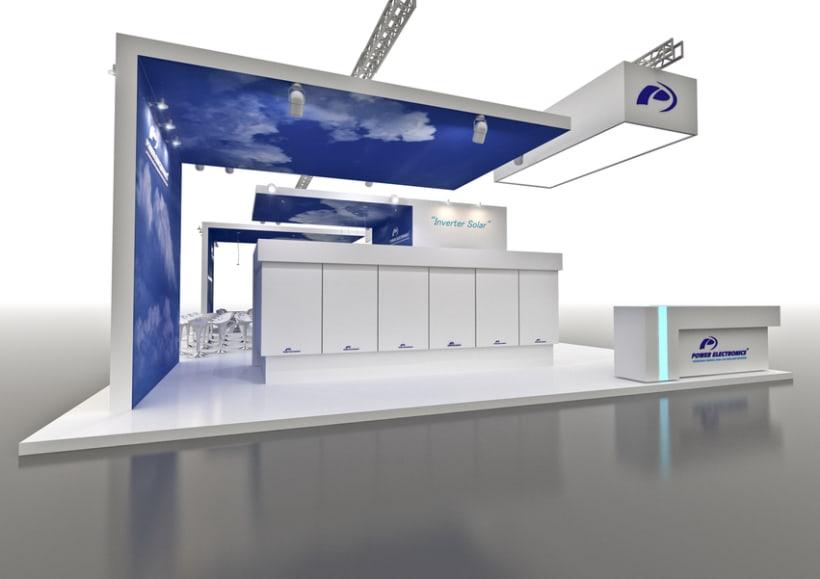 Stand Power Electronics. Feria Inter Solar 2013 (Alemania) 4