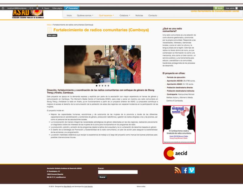 Web ONG ASAD 2
