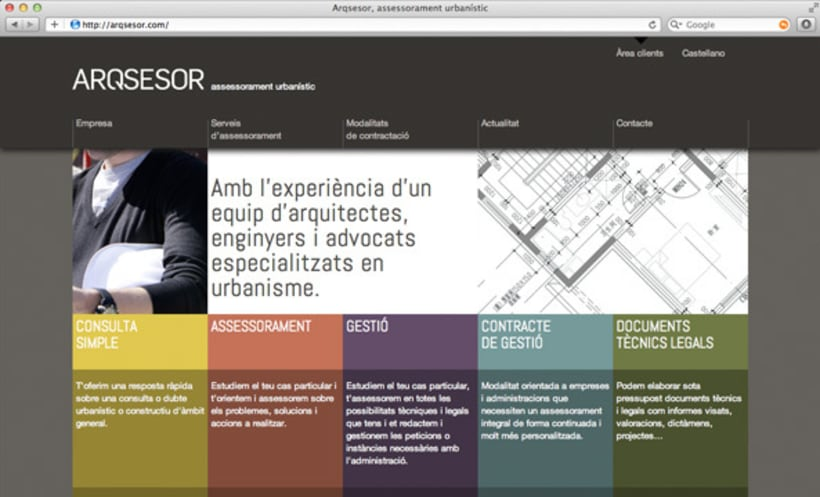Naming, imagen corporativa y web | Arqsesor 2