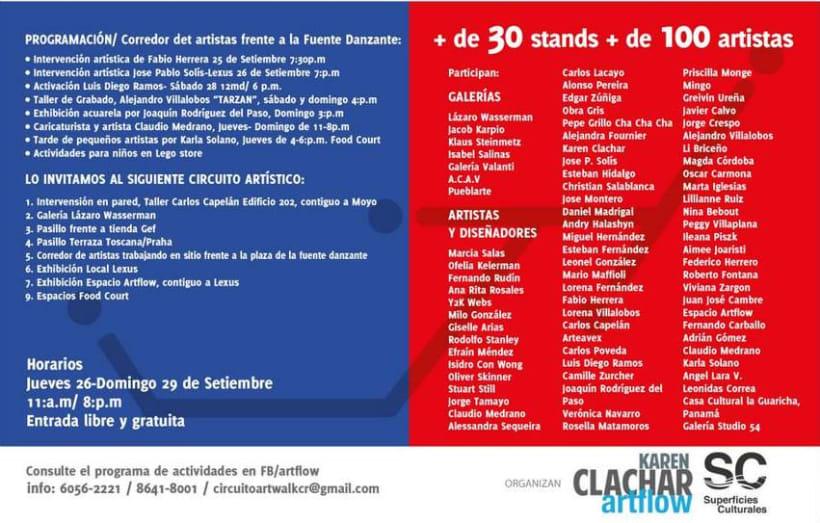Comunicación y Diseño gráfico para la Feria de Arte Art Walk Costa Rica 19