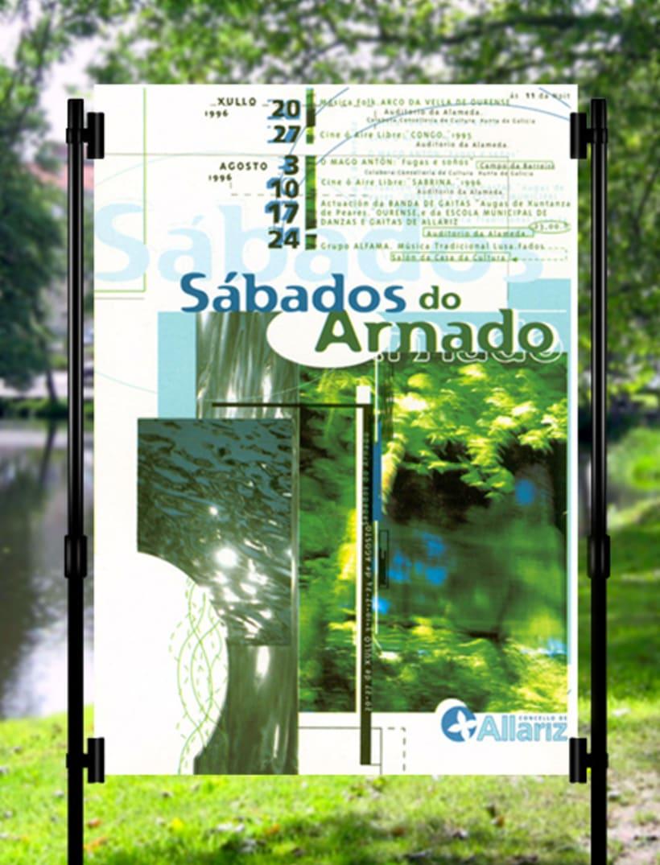 Sábados do Arnado (Concello de Allariz). Cartel y postal. 1