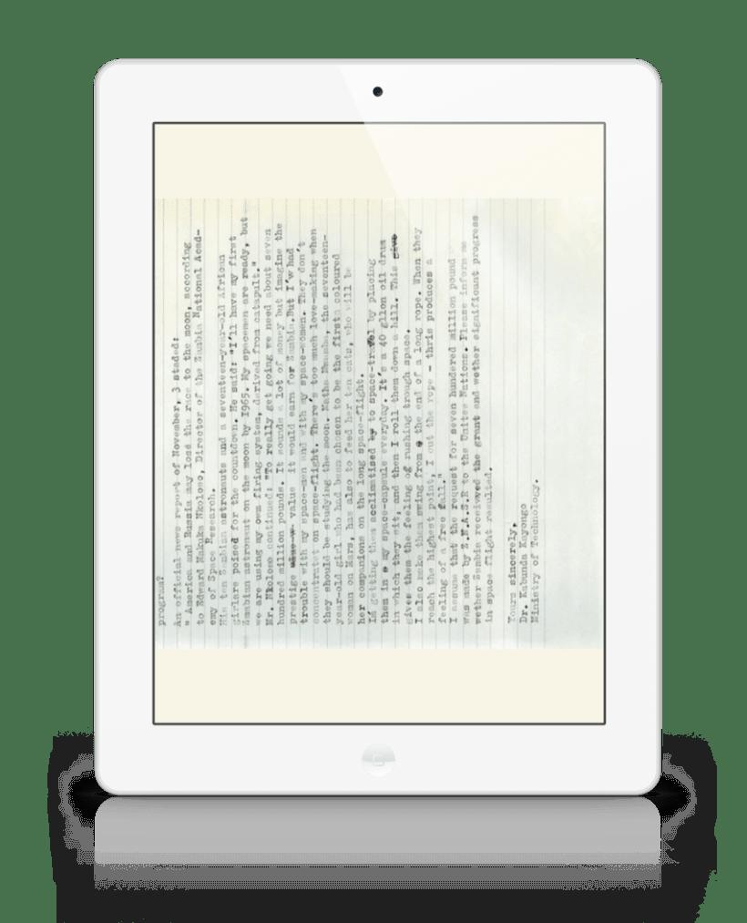 The Afronauts, libro de Cristina De Middel para iPad e iPhone 1