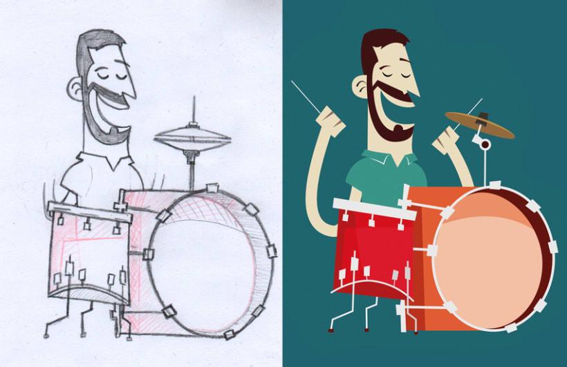 """Cartel y camisetas: Festival de percusión """"MésQueRitmes"""" 3"""