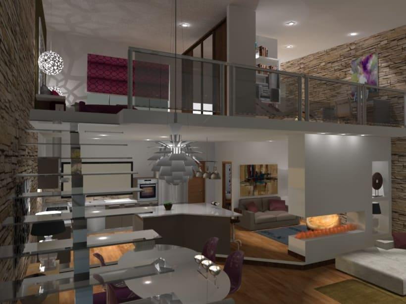 Loft de dos plantas domestika for Diseno de lofts interiores