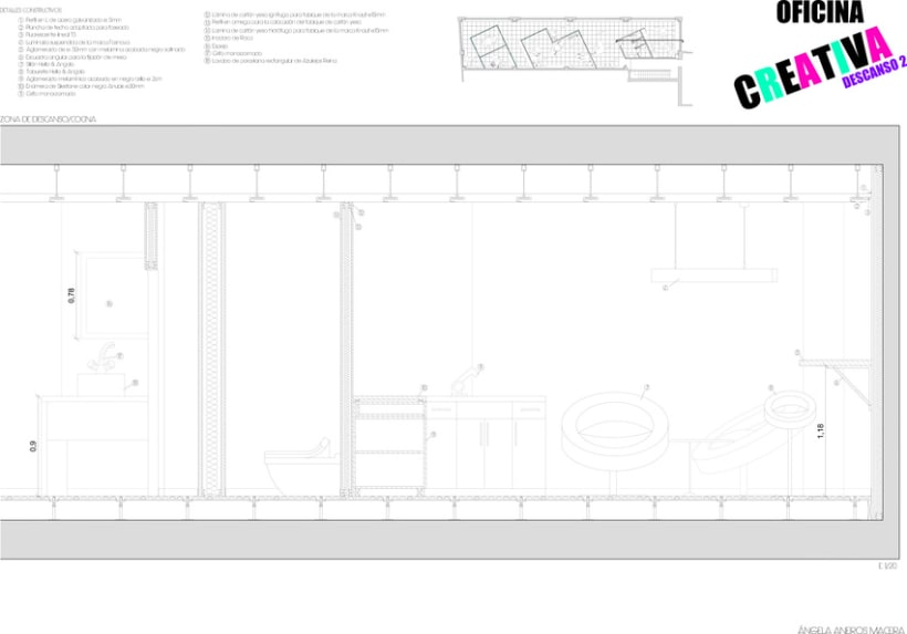 SECCIONES CONSTRUCTIVAS OFICINA 3