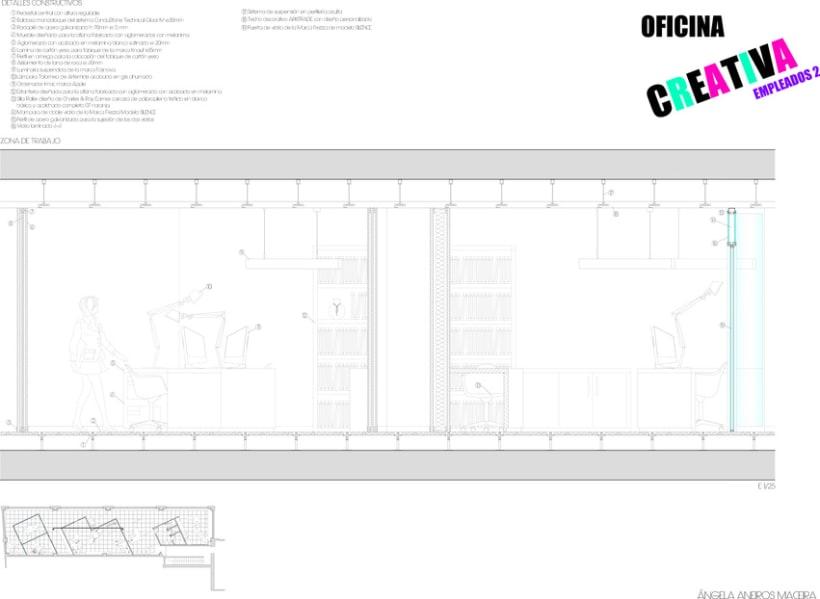 SECCIONES CONSTRUCTIVAS OFICINA 6