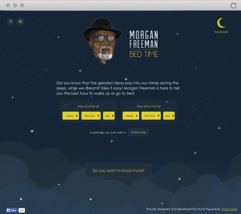 Morgan Freeman Bed Time 2