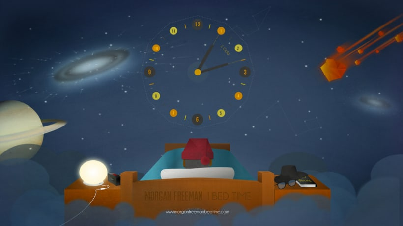 Morgan Freeman Bed Time 7