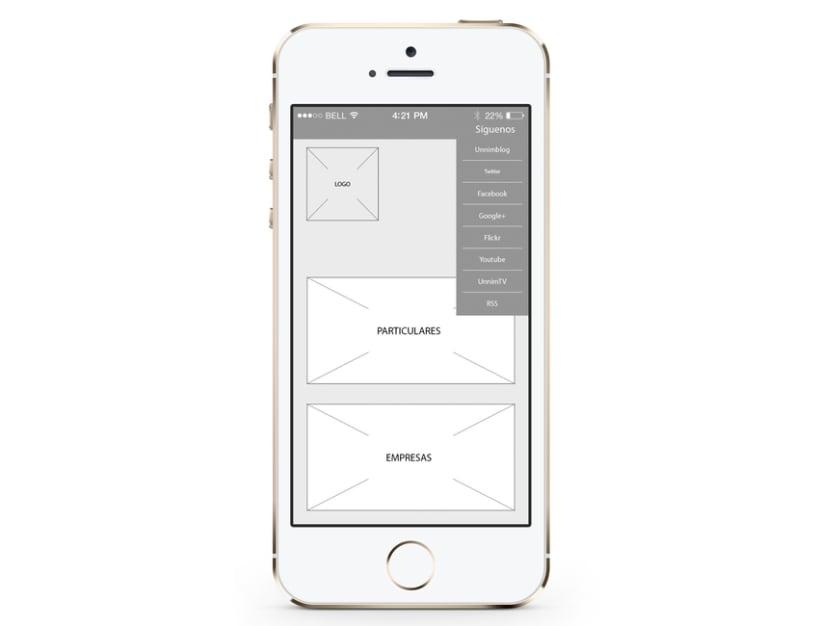 Wireframes para portal inmobiliario móvil E-commerce 3
