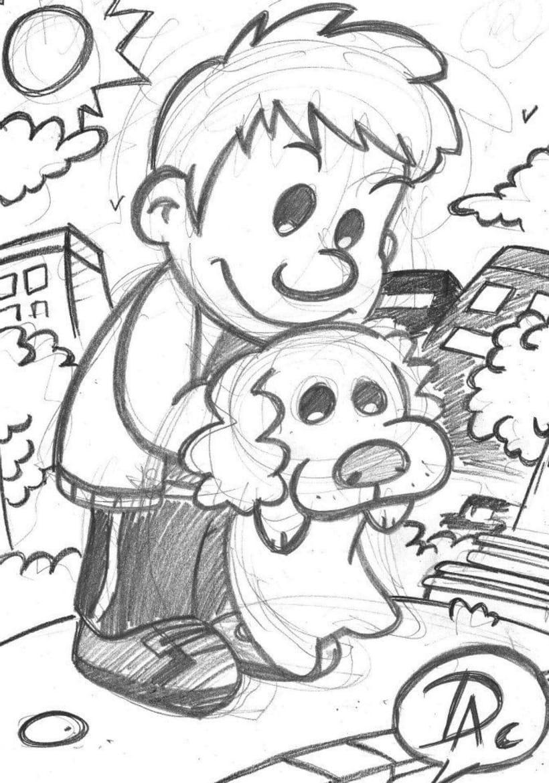 Dibujos de caracter infantil  6