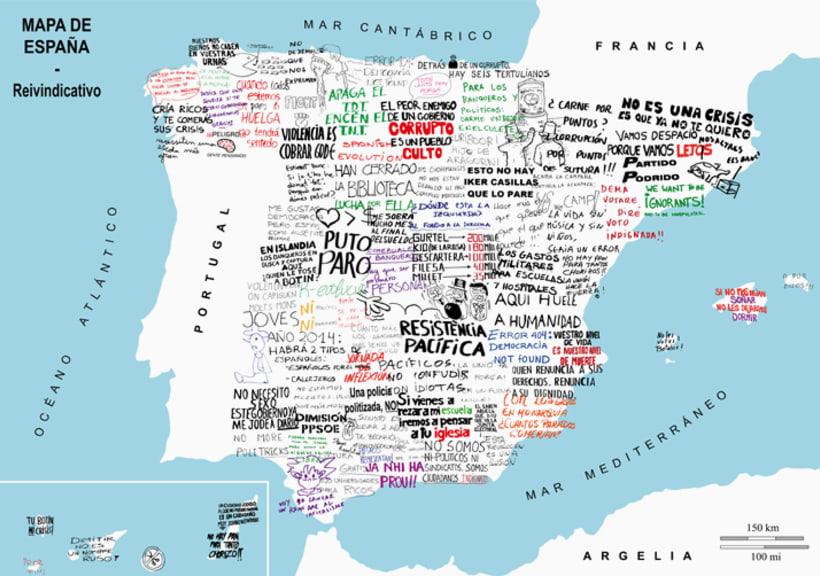 Mapa de España - Reivindicativo 1