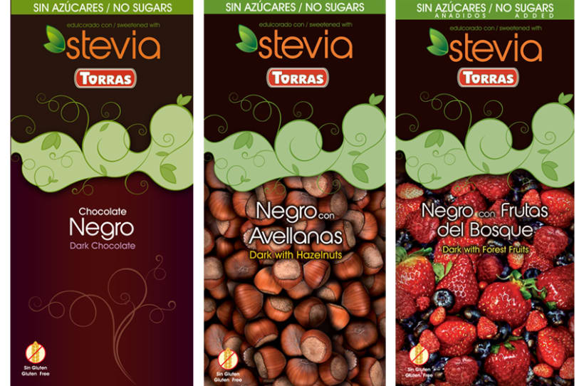 Gama de Chocolates Negros con Stevia Torras (2012) 3