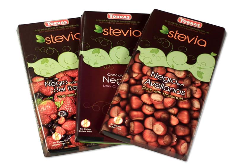 Gama de Chocolates Negros con Stevia Torras (2012) 5