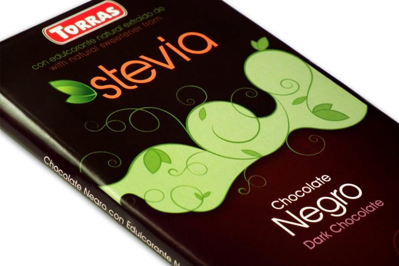 Gama de Chocolates Negros con Stevia Torras (2012) 7
