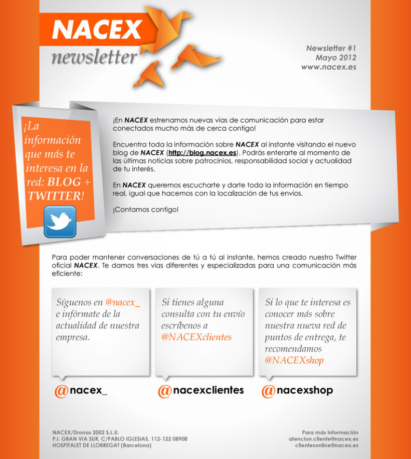 Newsletters Nacex (2012) 1