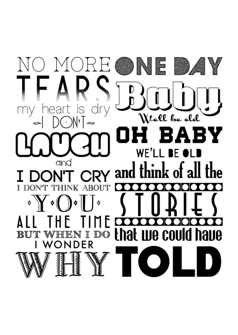 Typographic Posters 9