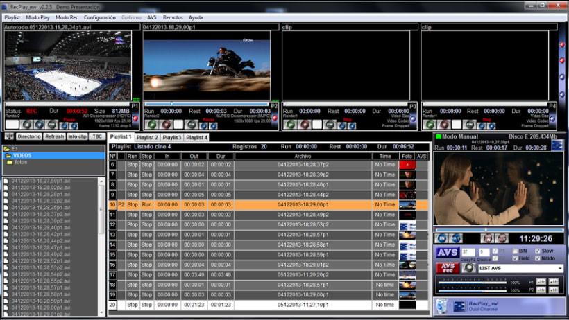 RecPlay_mv aplicación para la producción audiovisual. Productoras de video , estudios de tv y gestión de eventos. 0