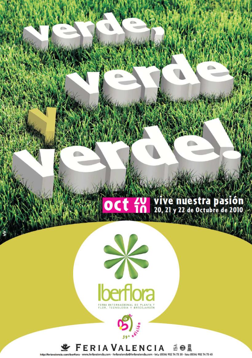 IBERFLORA _ Imagen para la 39ª Edición de la Feria Internacional  de Planta y Flor; Tecnología y Bricojardín Iberflora 0