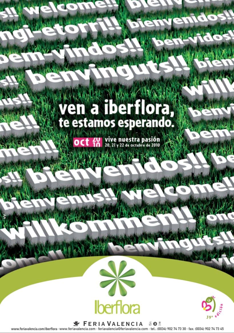 IBERFLORA _ Imagen para la 39ª Edición de la Feria Internacional  de Planta y Flor; Tecnología y Bricojardín Iberflora 1