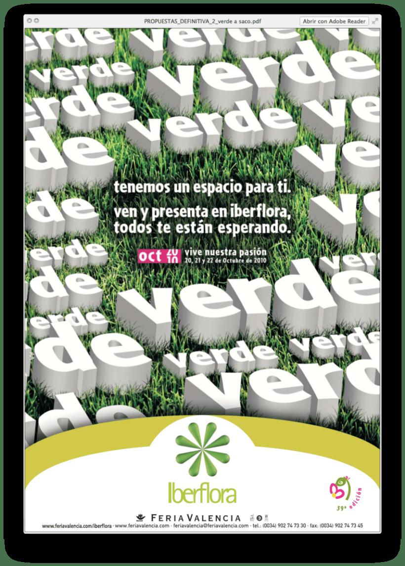 IBERFLORA _ Imagen para la 39ª Edición de la Feria Internacional  de Planta y Flor; Tecnología y Bricojardín Iberflora 2