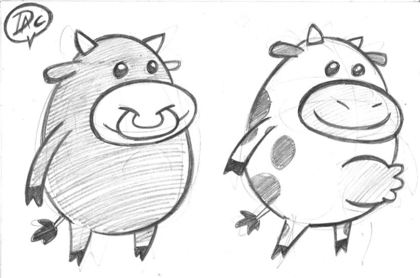 Bocetos dibujos de caracter  infantil de animales  3