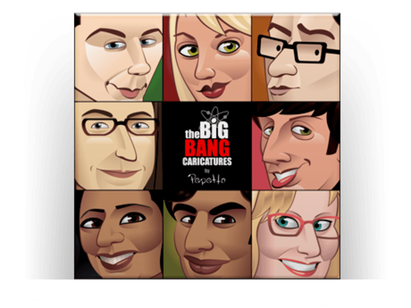The Big Bang Caricatures -1