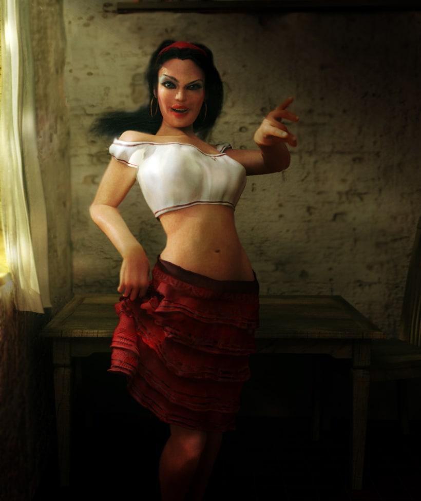 Modelado 3D women 4