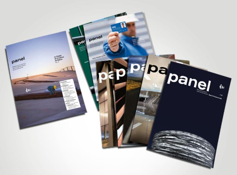 Panel, revista. Diseño de portadas y maquetación interior. -1