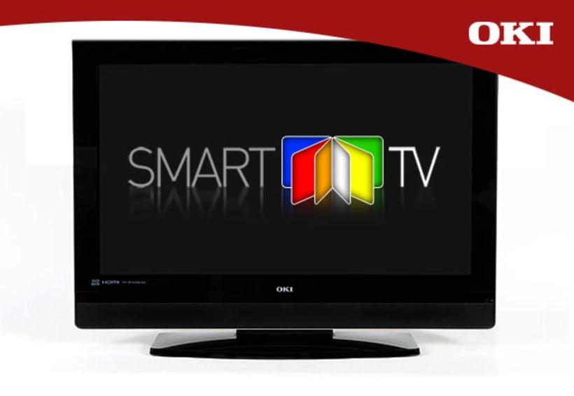 Creación, diseño y aplicaciones de logotipo para televisores inteligentes (OKI Smart-Tv) -1