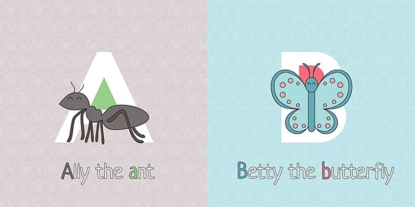 AnimalZ. Abecedario en inglés para niños 2